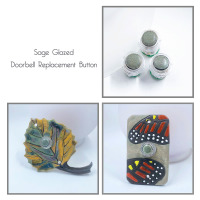 doorbell, doorbell button, doorbell replacement, doorbell center push, mother of pearl, paula